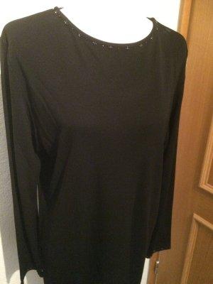 schwarzes Longshirt / Shirtkleid mit Perlen von C&A / Your 6th sense - neu - Gr. 44/46