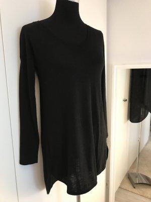 Schwarzes Longshirt/Tunika