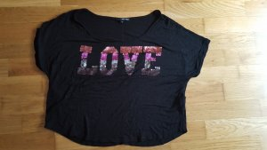 Schwarzes Love T-Shirt