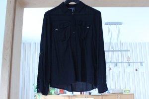 schwarzes, luftiges Hemd