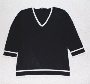 Schwarzes Marineshirt mit weißen Streifen