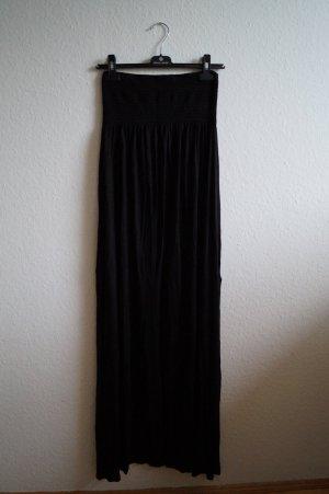 schwarzes Maxikleid bandeau