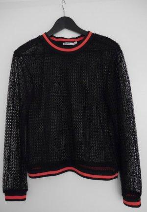 Schwarzes Mesh Top von Zara