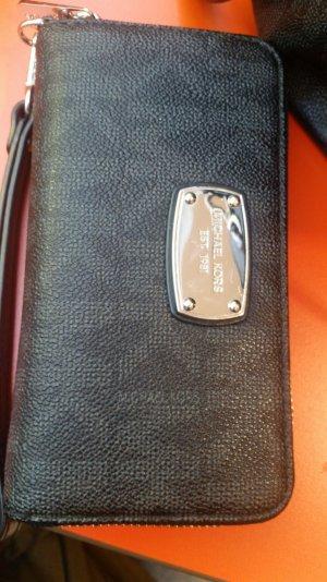 Schwarzes Michael Kors Monogram Portemonnaie