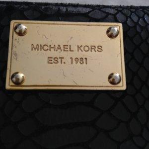 Schwarzes Michael Kors Schlangenleder Portemonnaie