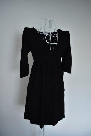 Zara Robe noir tissu mixte