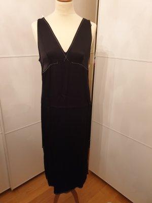 Zara Vestido a media pierna blanco-negro