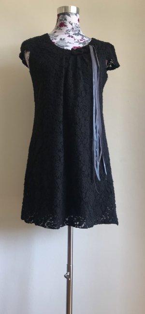 Schwarzes Mini-Spitzenkleid von Yumi (Größe M)