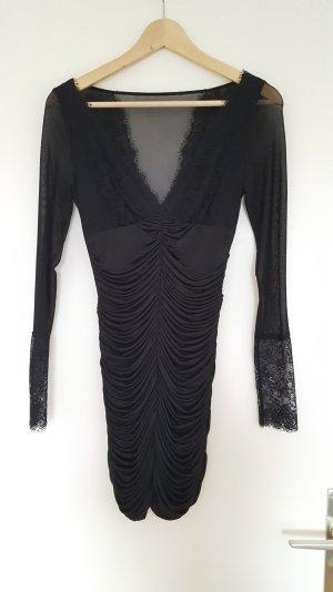 Guess Mini vestido negro tejido mezclado