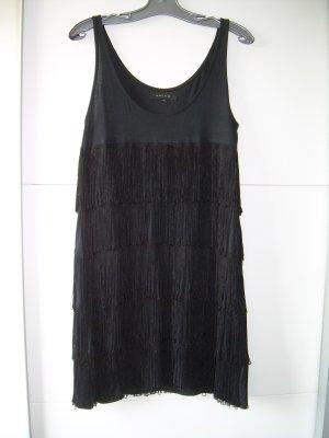 Amisu Vestido con flecos negro