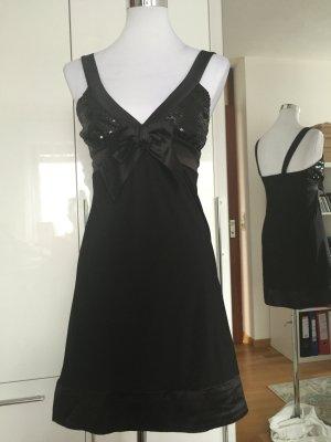 Schwarzes Minikleid mit Pailletten Gr. 36