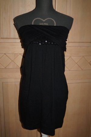 Schwarzes Minikleid mit  Palietten