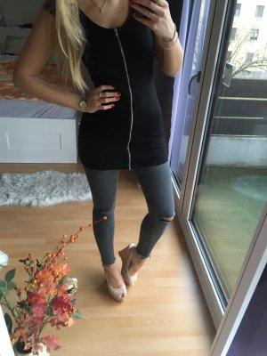 Schwarzes Minikleid mit Reißverschluss H&M