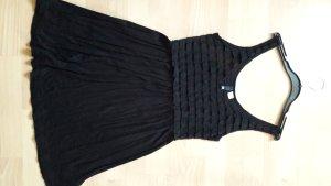 schwarzes Minikleid mit Rüschen bzw Spitze von h&m Divided 36