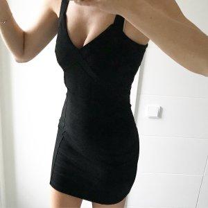 schwarzes Minikleid Stretchkleid