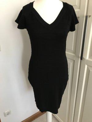 Schwarzes Minikleid toller V-Ausschnitt