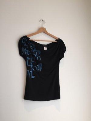 schwarzes Miss Sixty shirt mit blauer metalic aufschrift
