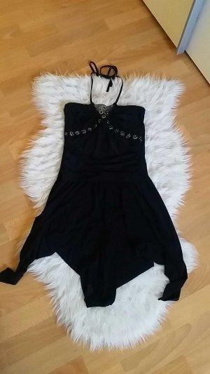 schwarzes neckholder Kleid