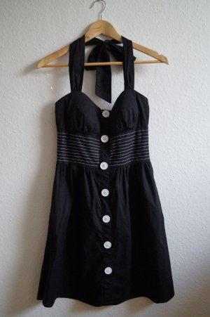 schwarzes Neckholder-Kleid