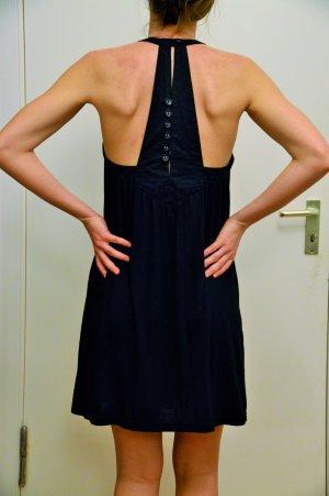 schwarzes Neckholder Kleid von Vero Moda Größe S mit Knopfleiste im Rücken
