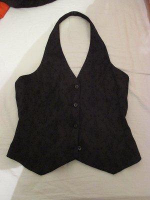 H&M Top senza maniche nero Tessuto misto