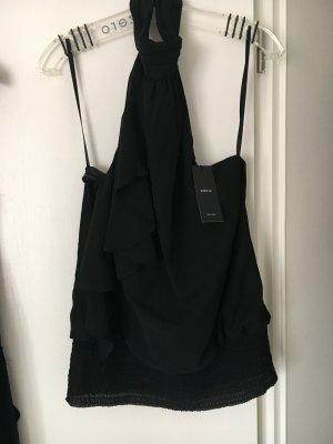 Schwarzes neckholder top