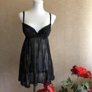 H&M Negligee black-silver-colored
