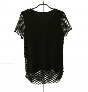 schwarzes netzoberteil 80ies / vintage / black / shirt / t-shirt