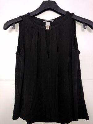 H&M Glanzende blouse zwart-goud