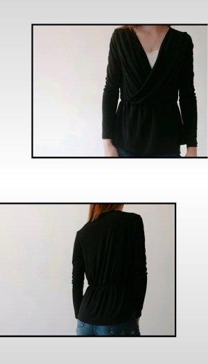Amisu Wraparound Shirt black
