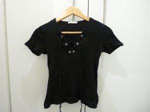 Zara Trafaluc Top básico negro Algodón
