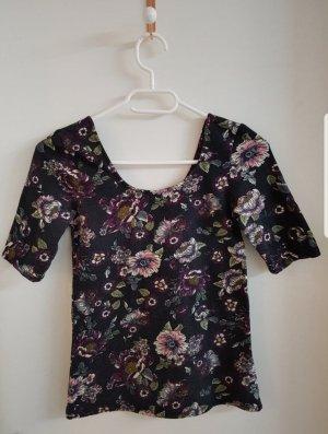 Boothalsshirt zwart-roségoud