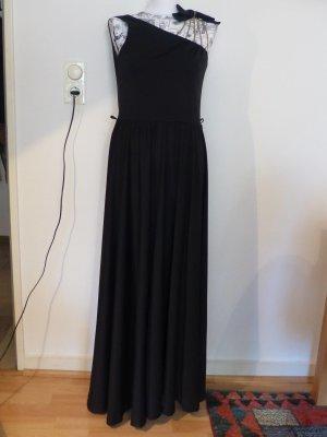 schwarzes One Shoulder Abendkleid