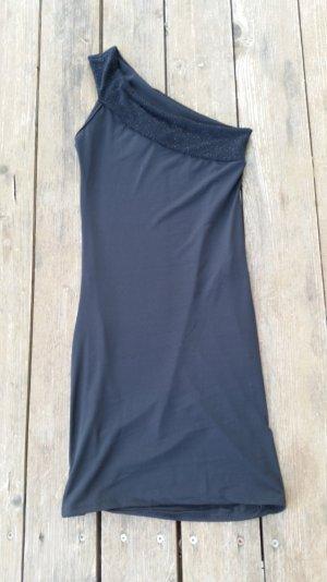 Schwarzes Oneshoulder-Kleid