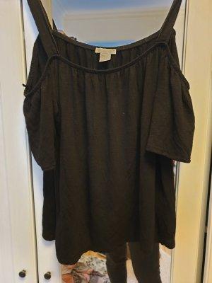 H&M Camisa de un solo hombro negro