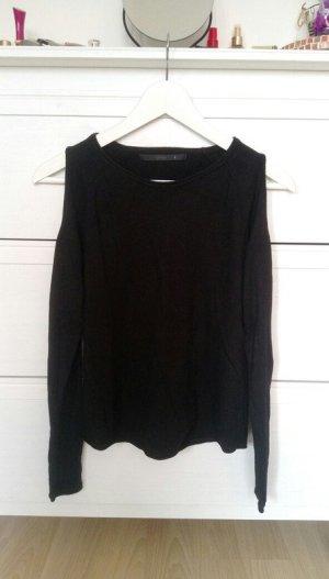 Schwarzes ONLY-Oberteil mit ausgeschnittenen Schultern