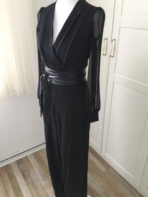Asos Jumpsuit zwart-zilver