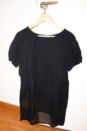 schwarzes Oversize Shirt