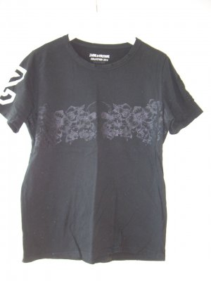 schwarzes Oversize T-Shirt von Zadig & Voltaire Gr. M Totenkopf-Print