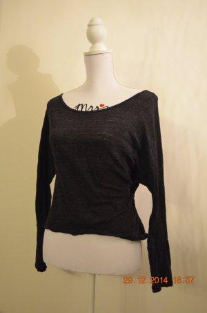 schwarzes Oversized Shirt