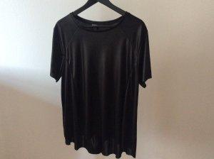 Schwarzes oversized T- Shirt von Zara