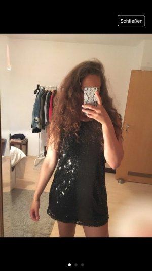 Schwarzes Pailetten Kleid