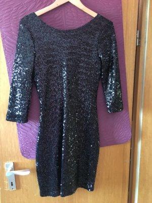 Schwarzes Pailletten Kleid