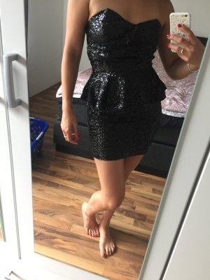Schwarzes Pailletten Minikleid