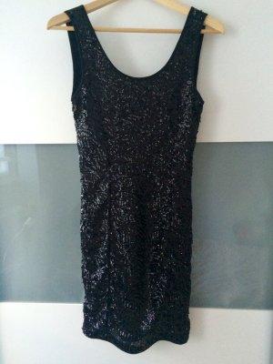 Schwarzes, Paillettenbesetztes Kleid