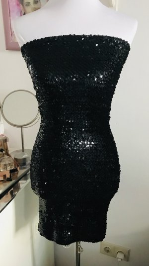 Schwarzes Paillettenkleid (M)