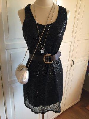 Schwarzes Paillettenkleid (nur das Kleid)