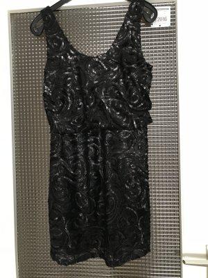 Schwarzes PaillettenKleid von Mango Gr.XS