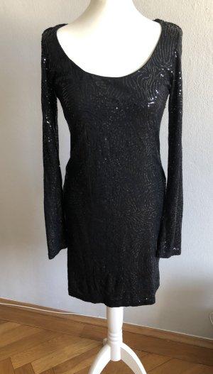 Schwarzes Paillettenkleid von Velvet Gr. M