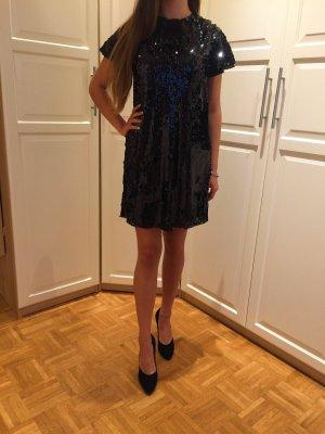Zara Basic Abito con paillettes nero